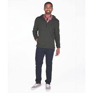 Men's Heathered Fleece Quarter Zip Hoodie