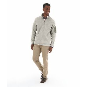 Men's Heathered Fleece Pullover Shirt