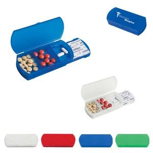 3-Chamber Pill Box With Bandage Dispenser