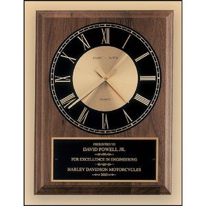 Walnut Vertical Wall Clock 8x10